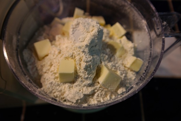 Add the butter into the mix.