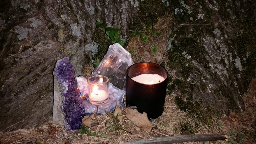 From BD Cooper: In the light rain, I'm out here under a giant maple, candle protected by its canopy. Diversity☆Unity☆Love Wins Blessed be the living, and blessed be our honored dead.
